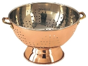 "9"" Diameter Décor Copper Footed Colander/Centerpiece"