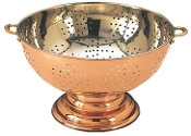 "12"" Diameter solid Copper Footed Colander/Centerpiece"