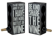 Primitives by Kathy Box Sign Wine Rack - Triple