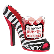 You Can't Buy Happiness High Heel Shoe and Shot Glass Shoeter