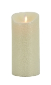 "Mystique Moving Flame Flameless candle 7"" Ivory Smooth"