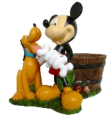 Mickey and Pluto planter