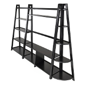 Adam 3pc TV Stand with Corner and Book Shelf