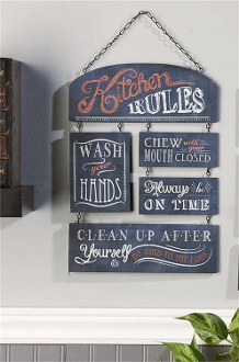 Chalk Talk Kitchen Rules Wall Plaque