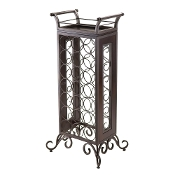 Silvano Wine Rack 7x3 with Removable Tray, Dark Bronze