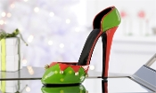 Holiday Stiletto Wine Bottle Holder