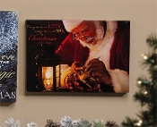 Riverland Christmas LED lighted Canvas Wall Print.