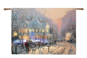 Thomas Kinkade A Holiday Gathering Lighted Tapestry