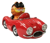 Garfield The Cat in Sports Car LED Solar Lighted Statue