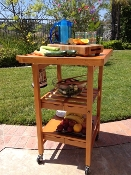 Oasis Concepts All Wood Entertainer Kitchen Cart