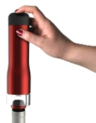 Metrokane Rabbit Electric Wine Preserver with Two Stoppers, Red