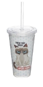 "Grumpy Cat Insulated Tumbler- "" Turn That Smile Upside Down"""