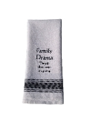 Family Drama the Gift That Keeps on Giving Kitchen Towel