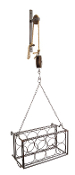 "Melrose 50"" Metal Pulley Mounted Wire Wine Rack"