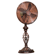 "12"" Table Top Fan Prestige- Rustica"