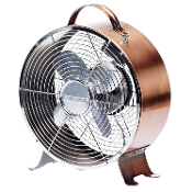 "9"" Retro Metal Fan - Copper"