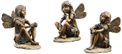 Gift Craft 6.5-Inch Polystone Sitting Fairy Design Statues