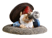 Gift Craft Polyresin Gnome with Solar Telescope