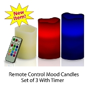 Flameless Color Changing Mood Candles Set of 3