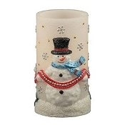 Pacific Accents Snowman-Themed Flameless LED Candle