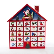 Kurt Adler Wooden Advent Calendar, 16-Inch, Ornaments not Inclu