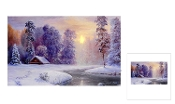 Riverland Christmas LED lighted Canvas Wall Print
