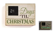 Giftcraft LED Lighted Chalkboard Advent Calendar