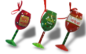 Giftcraft Wine Glass Christmas Tree Ornaments