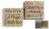 Giftcraft Christmas Lighted Wall Art