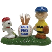 Peanuts Let's Play Ball S&P and Toothpick Holder
