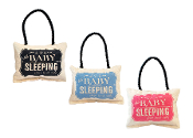 Shhh Baby Sleeping Soft Door Hanger Available in 3 Colors