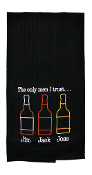 The Only Men I Trust; Jim, Jack and Jose, Kitchen Towel