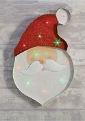 Large Glittery Santa or Snowman Lightup Wall Decor