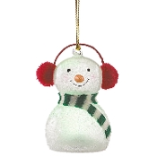 Wonder Ball Snowman Red Knit Muffs