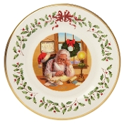 Holiday Santa Claus Collectors Plate