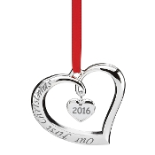 Our First Christmas Heart Shape Silver Ornament