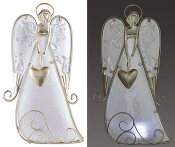 Angel Tealight Holder with Glass Accents