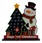Snowman and Christmas Tree Advent Calendar