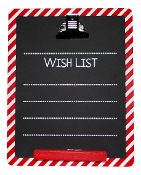 Christmas Chalkboard Wishlist And Clipboard