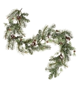 Snowy Pine Garland Wreath