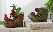 Boot Design Outdoor Planters, Two Different Designs