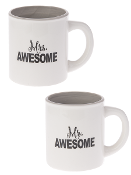 Mr. Awesome, Mrs. Awesome, Coffee Mug Set