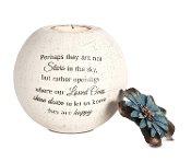 Stars in The Sky Candle Holder, 5-Inch, Terra Cotta