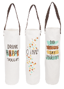 Ganz Party Central Wine Bags, Choice Of Three Designs