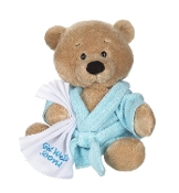 Get Well Teddy with Blue Robe Plush
