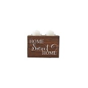 Home Sweet Home Wooden Votive Candle Holder