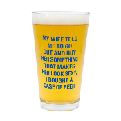 About Face Designs Pint Glass (A Case of Beer)