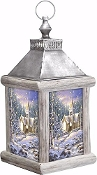 Christmas Chapel Lantern Fiber Optic w/ Timer