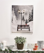 MDF Canvas LED Christmas Bench