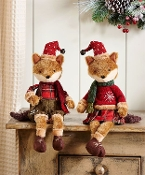 Plush Fox Design Shelf Sitter, 2 Asst
